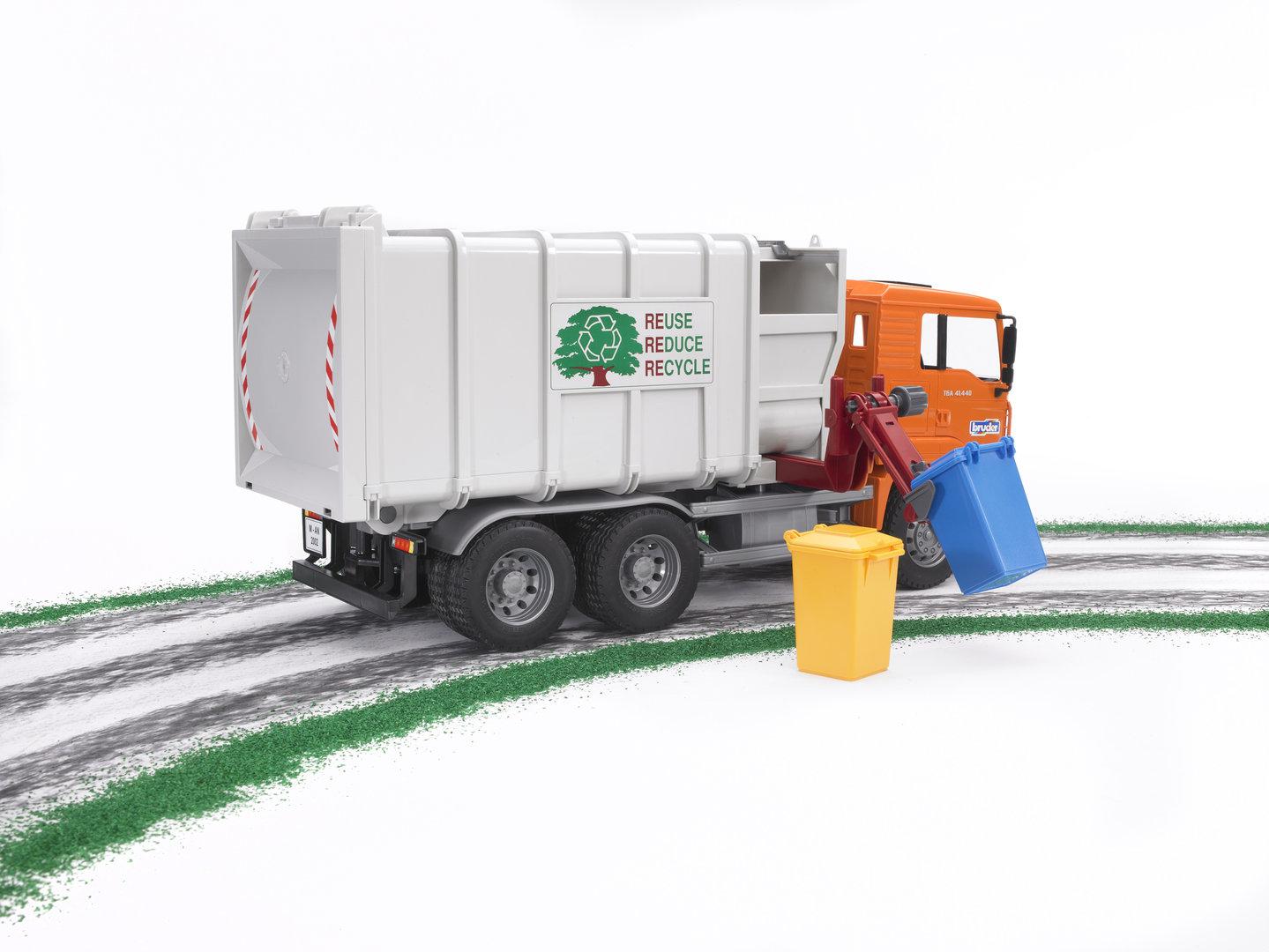 MAN TGS Seitenlader Müll-LKW Bauernhof