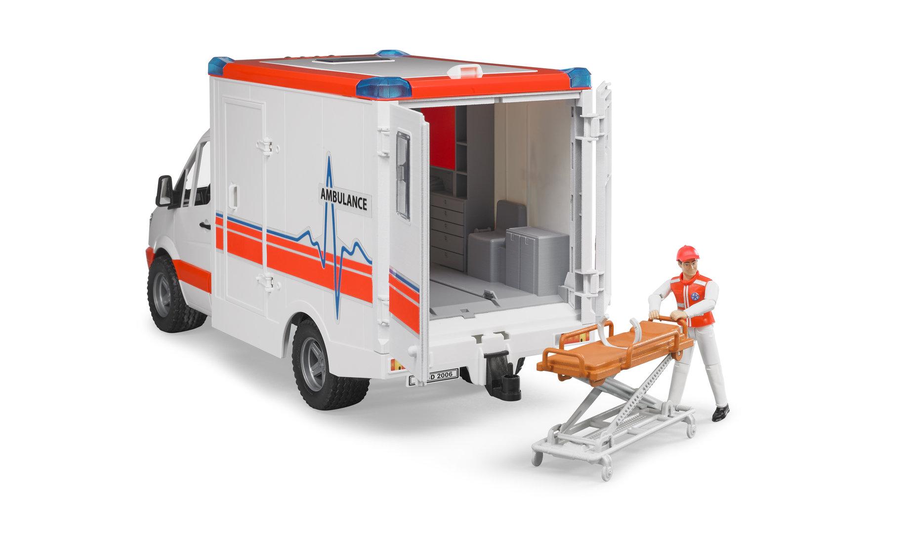 mb sprinter ambulanz bruder krankenauto bruder krankenwagen. Black Bedroom Furniture Sets. Home Design Ideas