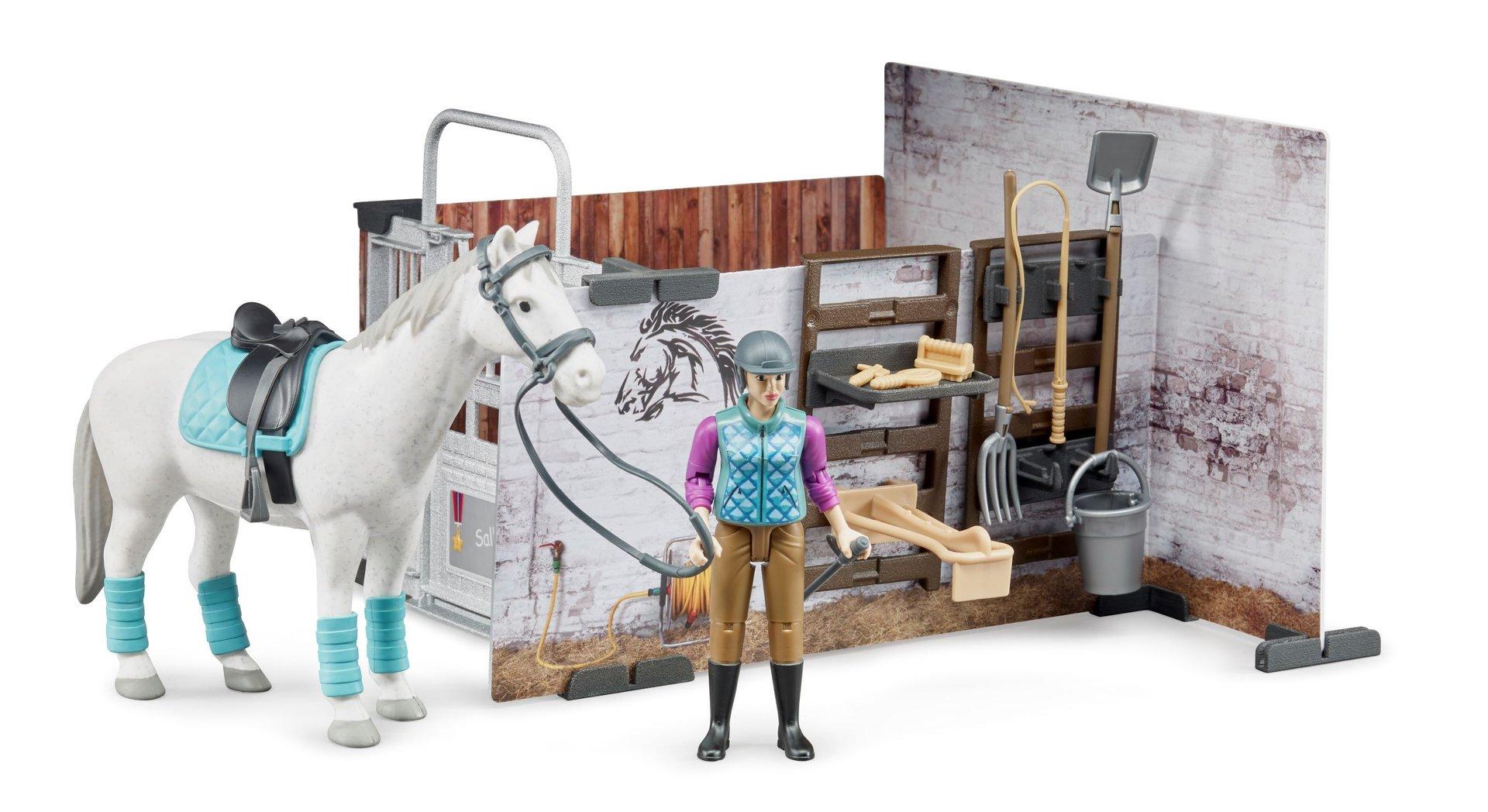 Kleinkindspielzeug Bruder bworld Pferdestall